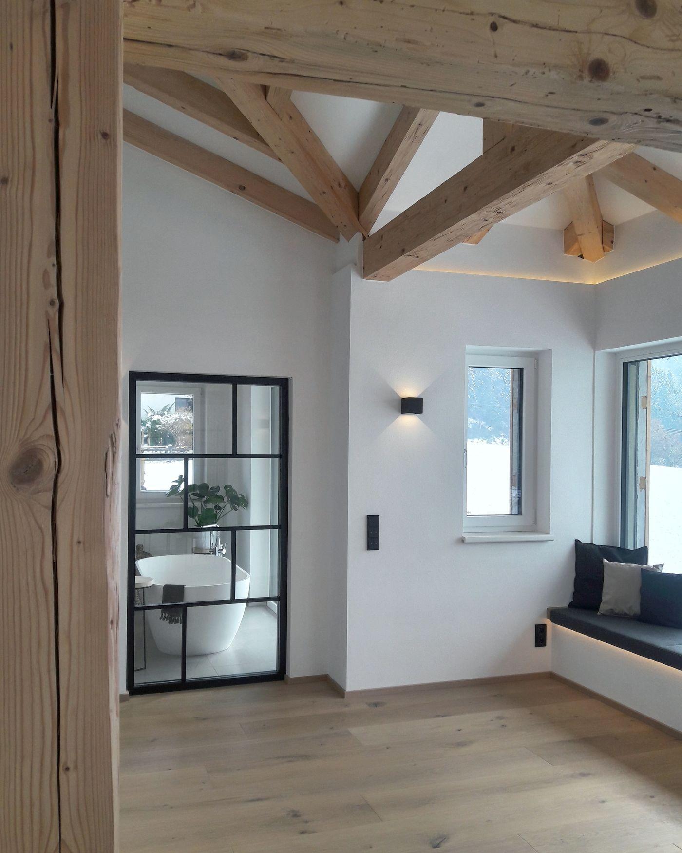 Indirekte Beleuchtung Holz Free Moderne In Wei Und Holz: Beleuchtung Sichtdachstuhl