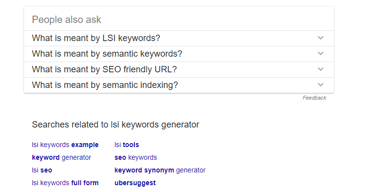 lsi keywords generator Google Search