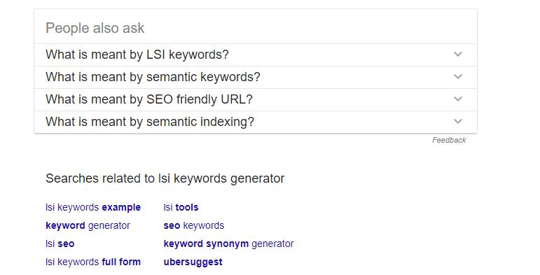 lsi keywords generator Google Search