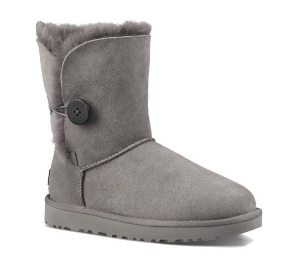 Ugg Women Bailey Button Ii Boot Grey Soleconnect