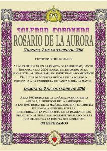 Agenda Rosario Aurora 2016
