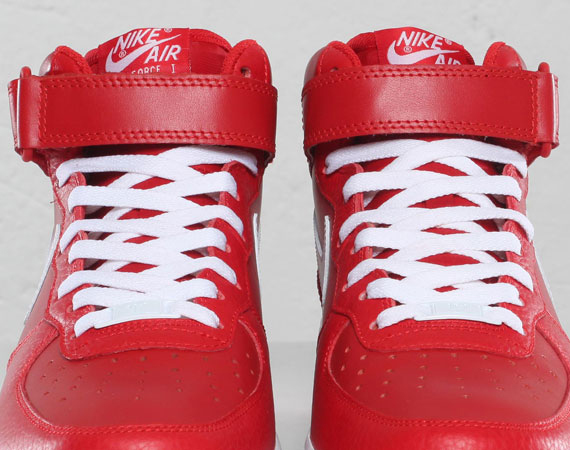 Nike Air Force 1 Mid Sport RedWhite Solefreshsoleclean