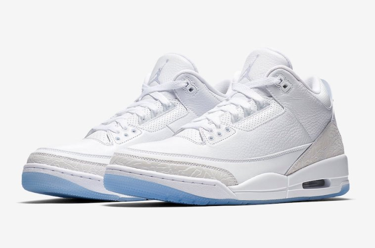 """4aa1df4e090b Air Jordan 3 """"Triple White"""" – SoleGRIND"""