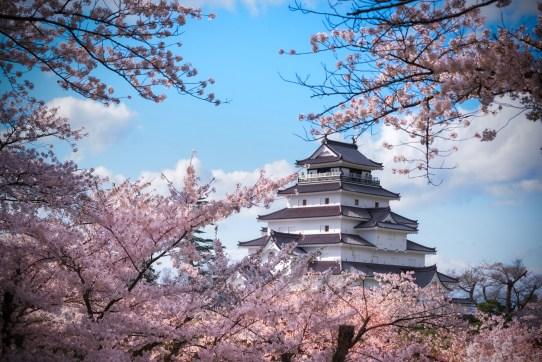 Tohoku, chateau de Aizu ( Soleil Levant 75 )