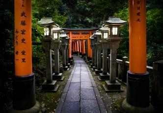 Kyoto, Fushimi inari.( Soleil Levant 75 )