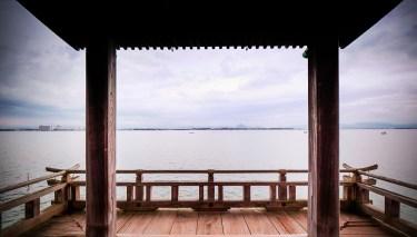 Lac Biwa. Temple Ukimido