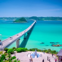 Tsunoshima Bridge..