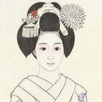 Estampe, Jeune maiko, Harumi TATEISHI.