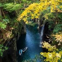 Kyushu, les gorges de Takachiho au début de l'automne.