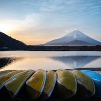 Yamanashi: Le lac Shojiko.