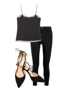 Three Outfits with One Shoe, camisole