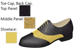 Black Lace and Gold Glitter Oxfords