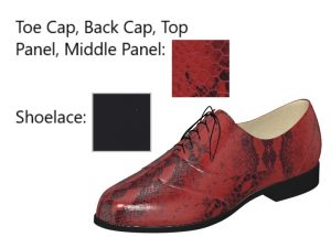 Red and Black Snakeskin Oxfords