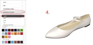 Baby Blue Vintage Flats Step 4-Choosing Which part of the Shoe to Colour
