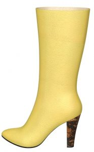 Solely Original Yellow Boots with Snakeskin Accents