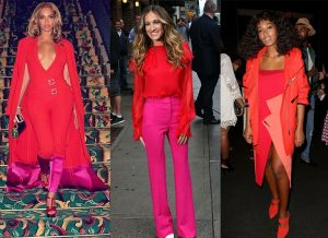 How to style pink and red like celebrities