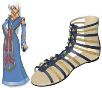 Blue and Gold Gladiator Sandal