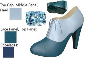 Two-Tone Blue High Heel Oxford