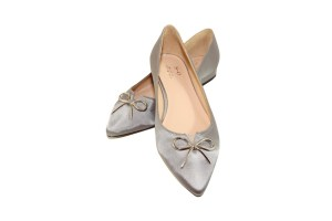 Comfortable flat shoes for work, Flossie Light Grey