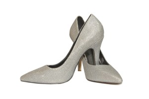 Audrey Silver Shoes- valentine's day outfit inspiration