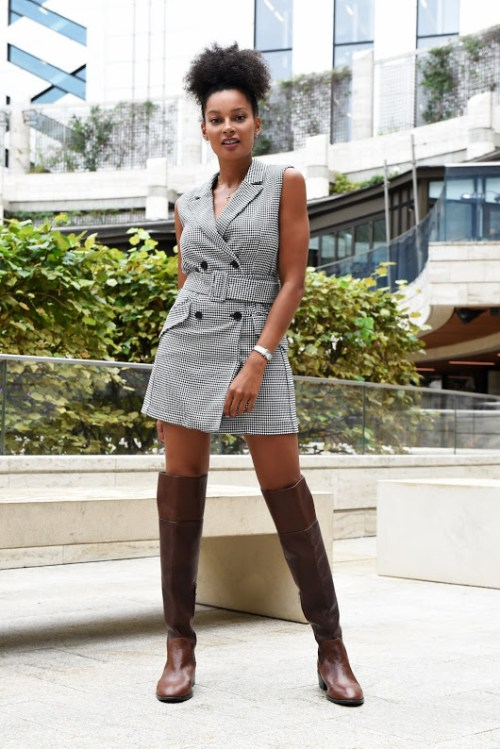 how to style thigh high boots and be comfortable