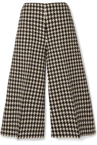 A product image of a pair of plaid culottes