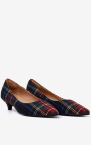 Pair of custom tartan heels