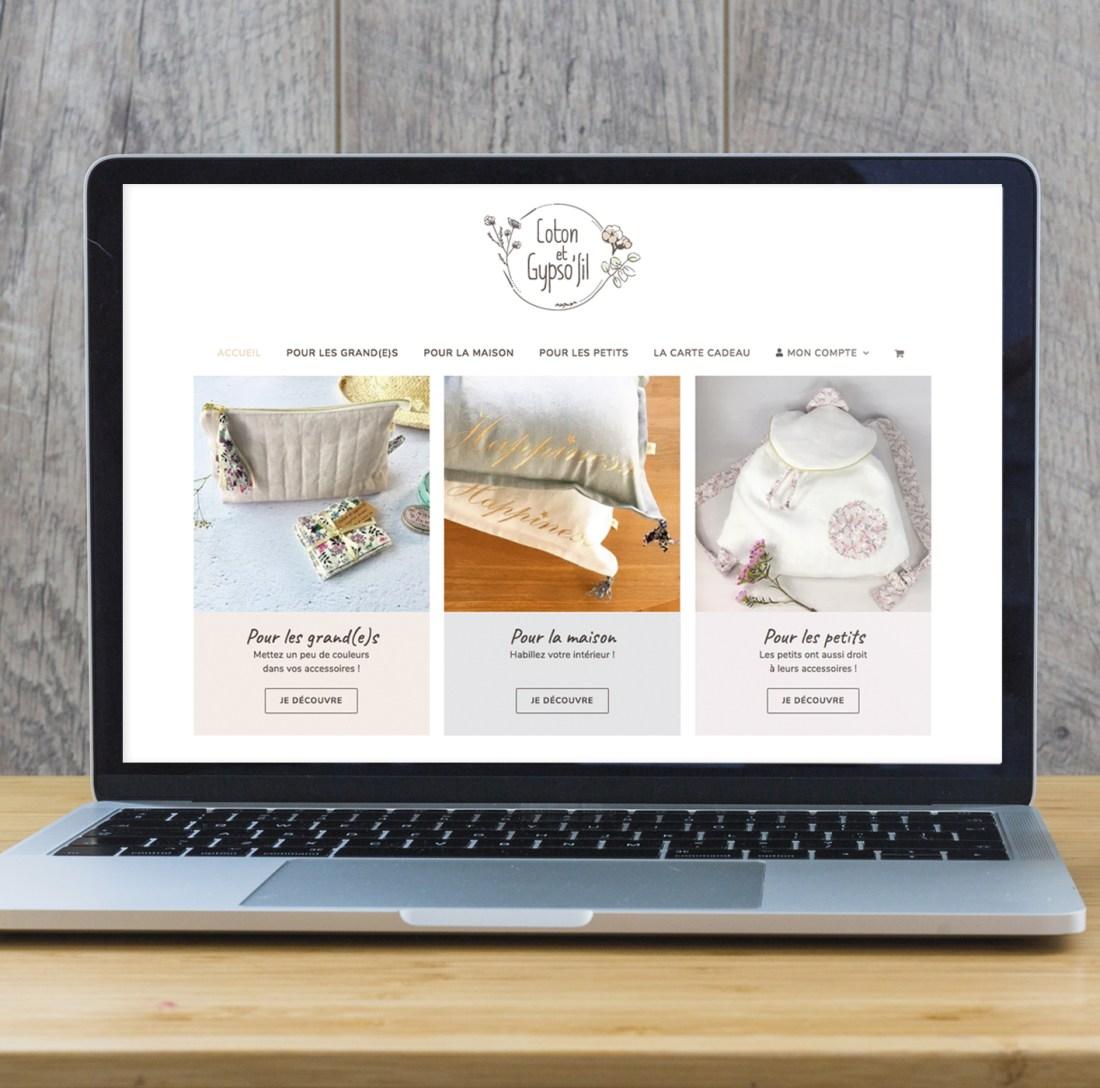 Ecran site e-commerce Coton et Gypso'fil