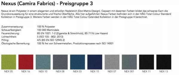 Stoffbezug Nexus HAG Capisco Puls