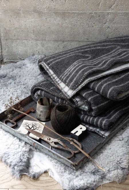 Skog Wolldecke Roros Tweed