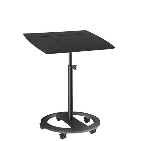 mobiles Steh- und Sitzpult rolls drive für iPad Tablets Esche schwarz dekor Gestell Schwarz