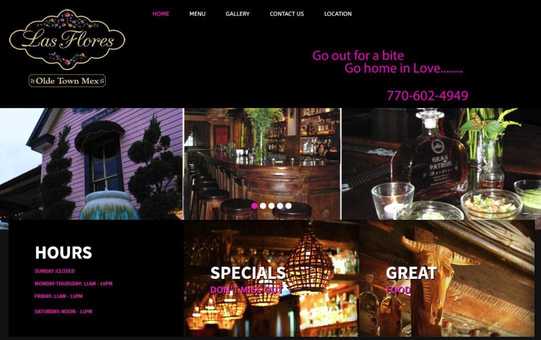 Solia Media Website for Las Flores of Conyers Georgia
