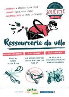 SoliCycle Berges de Seine atelier vélo solidaire