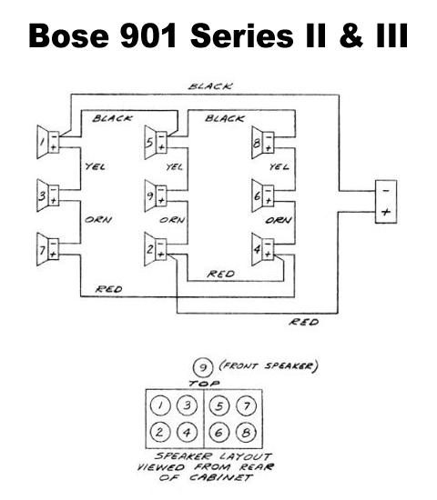 wiring speakers in parallel diagram directv swm splitter bose 901 data speaker restoration solid orange amplifier