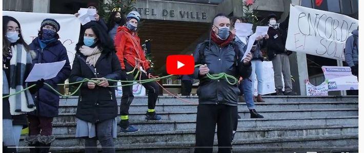 Grève des agent.e.s de la ville de Grenoble : vidéo et témoignage et nouveau rendez-vous le jeudi 17 decembre dès 11h45 devant la mairie