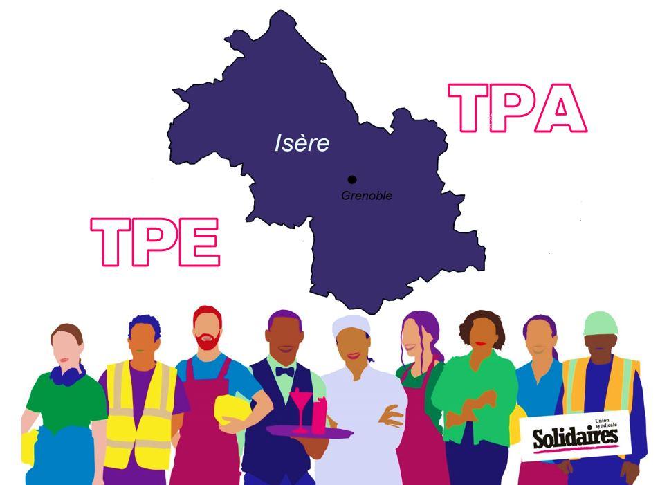 Très Petites Entreprises (TPE)/Très Petites Associations (TPA) : Salarié.e.s de l'Isère, on a des droits ! Votons Solidaires aux élections syndicales en ligne du 22 mars au 4 avril