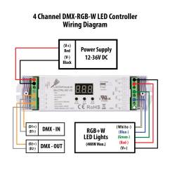 4 Channel Wiring Diagram 3 Way Multiple Lights Dmx Rgb W Led Controller