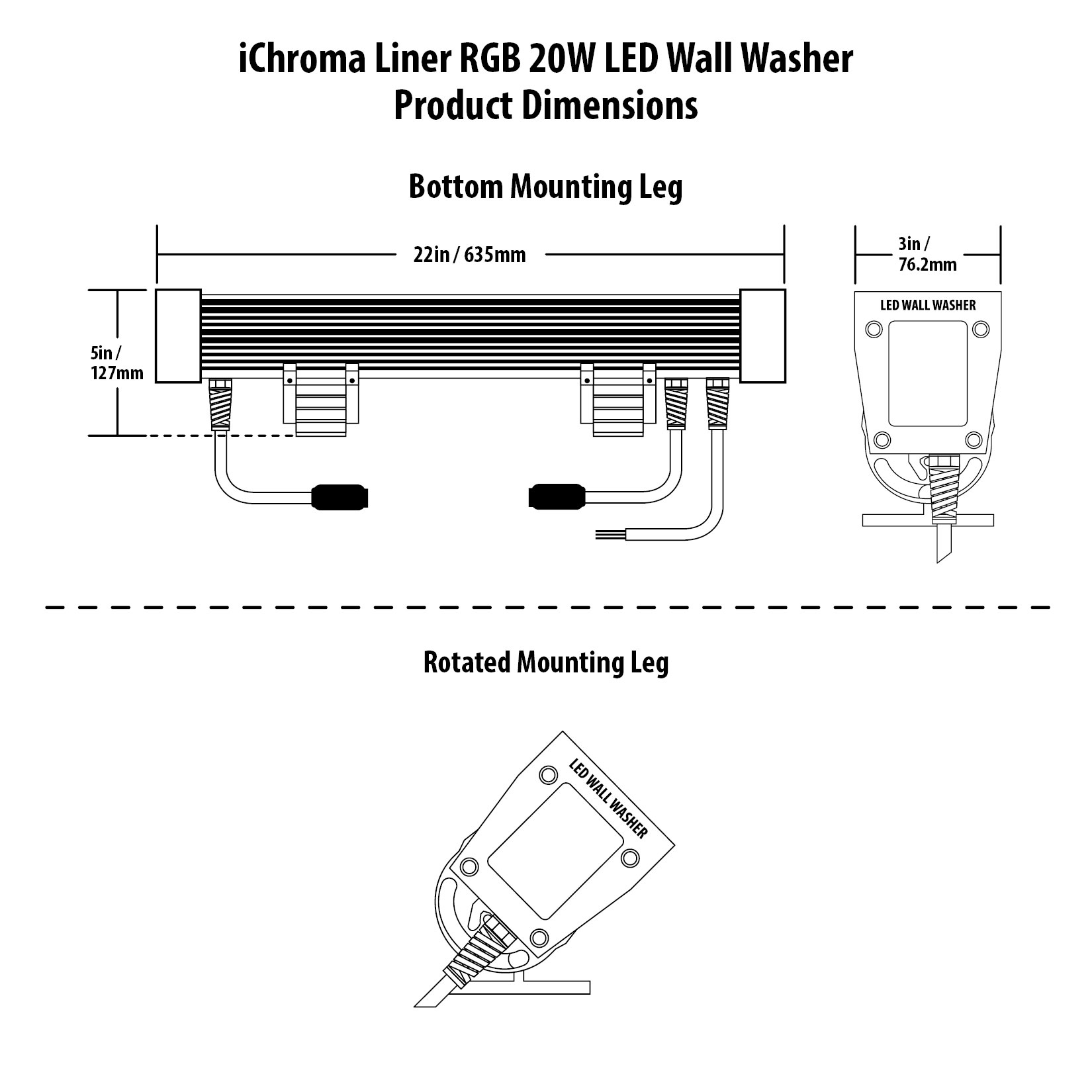 iChroma Liner RGB LED Wall Washer