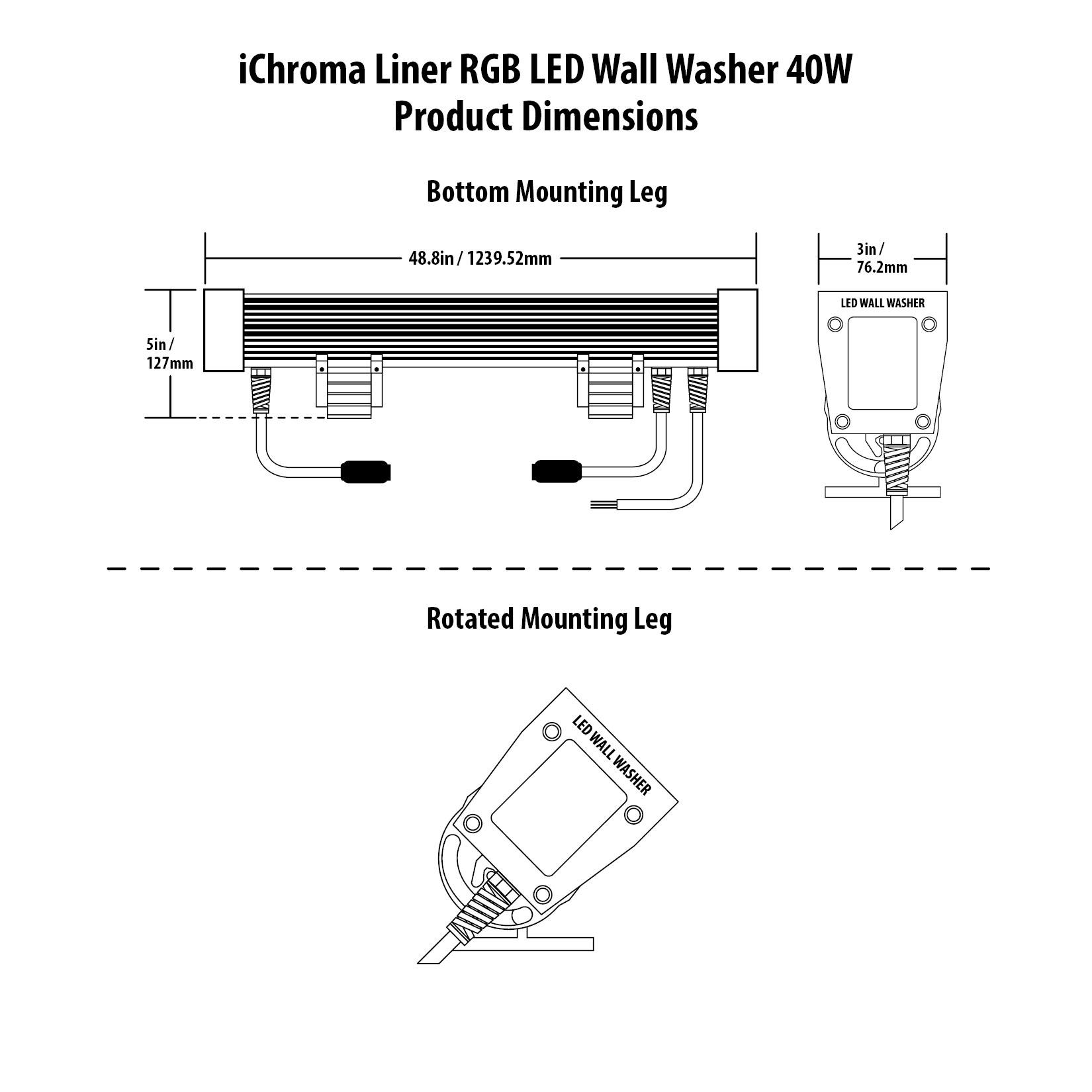 iChroma Liner RGB LED Wall Washer