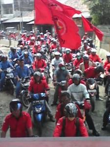 Buruh SBTPI Tanjung Priok demo
