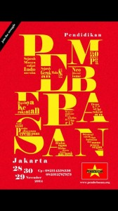 Poster Pendidikan Pembebasan Jakarta, 28-30 November 2014. © Pembebasan.