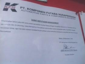 380 Buruh Kontrak PT KFN Diangkat Menjadi Buruh Tetap