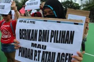 Perjuangan Buruh Migran Merebut Kontrak Mandiri