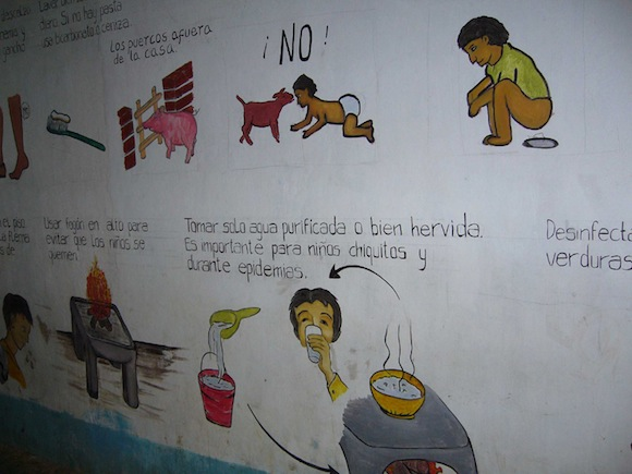 An informative mural in a Zapatista clinic.