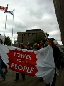 Emera's Profiteers rally organized by the Power to the People campaign in June 2012.