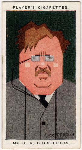NPG D2663,Gilbert Keith ('G.K.') Chesterton,by Alick P.F. Ritchie