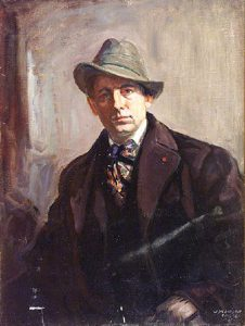 Joseph Kleitsch painting titled Portrait of a Gentleman Wearing a. Portrait of a Gentleman Wearing a Fedora - Joseph Kleitsch