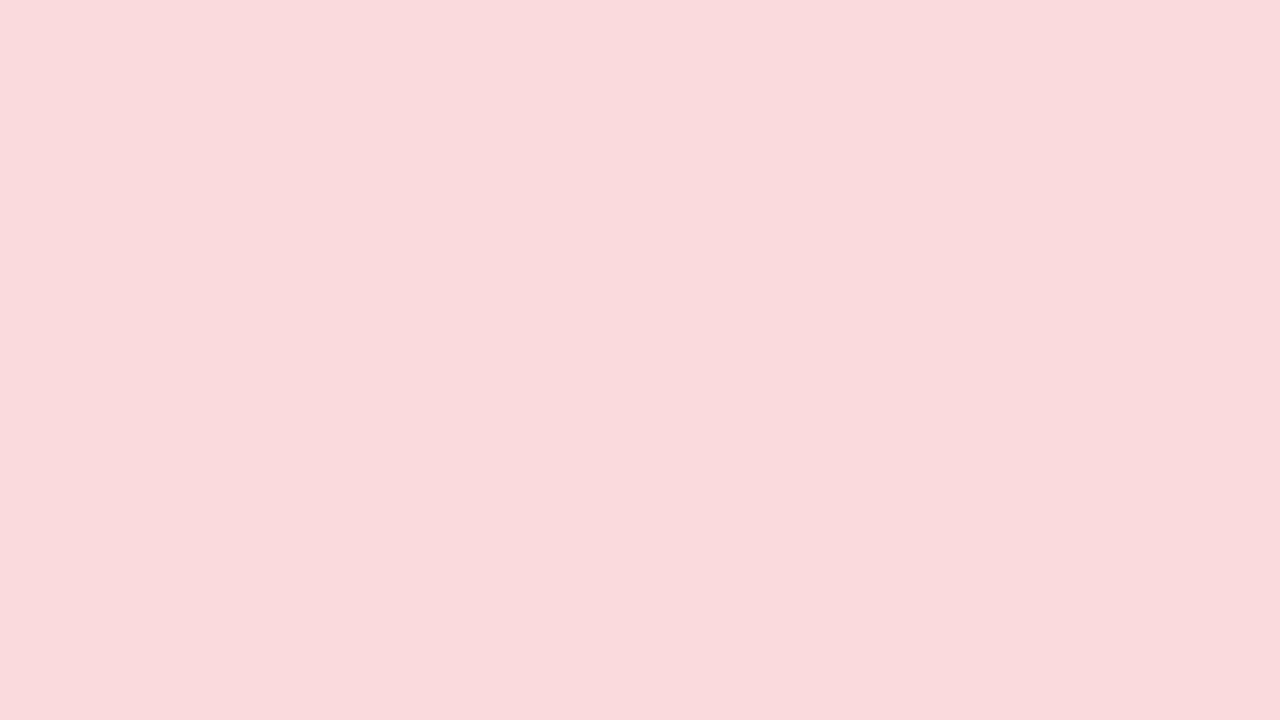 1280x720 Pale Pink Solid Color Background