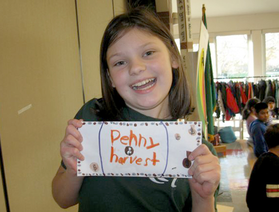 Penny Harvest volunteer