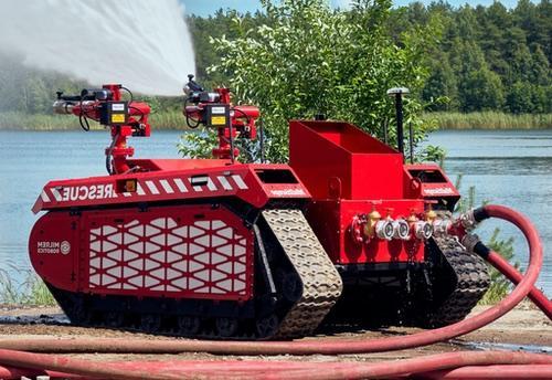robot d'intervention pour incendie